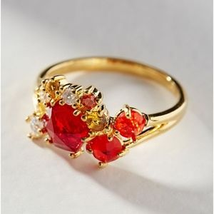 Birthstone Cluster Ring January size 7